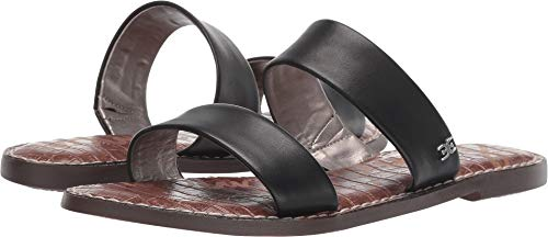 Sam Edelman Women's Gala Sandal, Black Leather, 9.5 M US