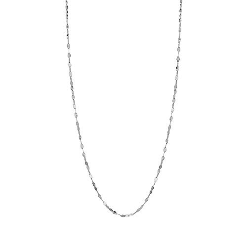 """10K Solid Gold 2.0MM Diamond Cut Mirror Chain Necklace and Anklet - Unisex Sizes 10""""-30"""" - Yellow, White, Rose or 3 Tone"""