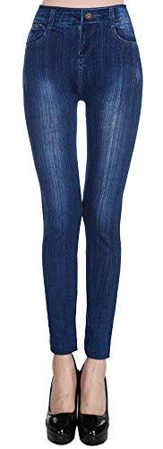 Vaqueros Estampado Mezclilla 6 Bolsillos Mujer Con Stretch Moda Botones Muster Ajustadas Para Huixin Pantalones De Mallas Mariposa qn6aCTB