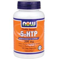Now Foods Double Strength 5-HTP 200 mg (120 vc) 4 Pack by NOW Foods