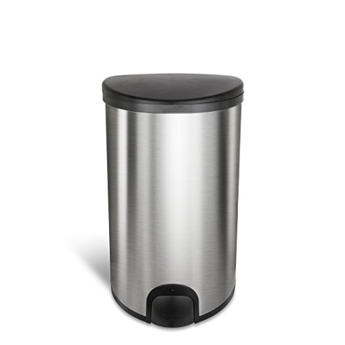 Ninestars the Original Toe Tap Automatic Motion Sensor Trash Can 13.2 Gallons/50L, 13.2 Gal, Stainless Steel Touchless Electronic