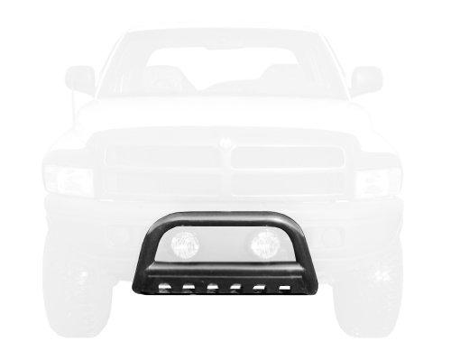 MaxMate Premium Black Bull Bar Bumper Brush Guard with Skid Plate Fits 94-01 Ram 1500/94-02 Ram 2500/3500 (Excl Sport, Laramie Models)