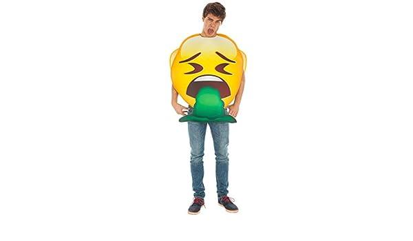 Generique - Disfraz Emoji vómito Adulto Única: Amazon.es: Juguetes ...