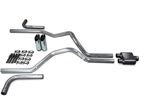Side Slash Cut - Truck Exhaust Kits - Shop Line dual exhaust system 2.5 AL pipe 1 chamber muffler 2.5
