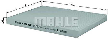 Mahle Knecht La 587 Filter Innenraumluft Auto