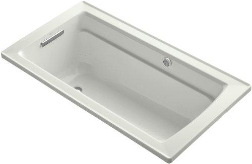 Kohler K-1122-G-NY Archer Bubblemassage 5Ft Bath with Comfort Depth Design, Dune ()