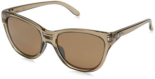 Oakley Women's OO9357 Hold Out Cat Eye Sunglasses, Sepia/Prizm Bronze Polarized, 55 ()