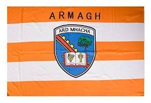 OFFICIAL IRELAND GAA crest COUNTY FLAG ARMAGH 152cm x91cm very limited stock (Outdoor Clocks Ireland)