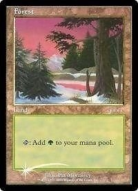MTG Magic the Gathering Arena 2001 Promo FOIL Forest Ice Age