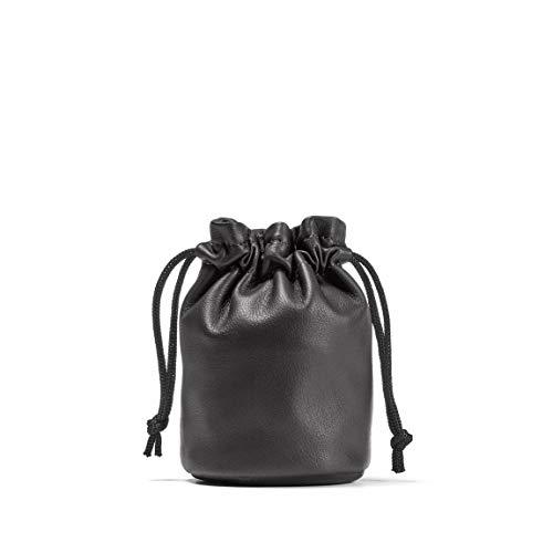 (Drawstring Pouch - Full Grain Leather - Black Onyx (black))