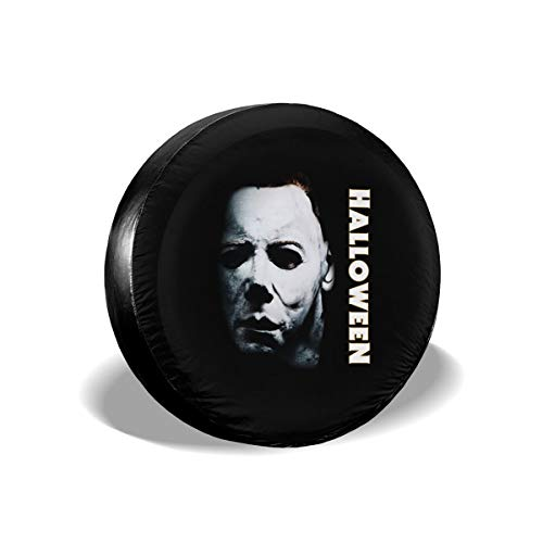 Tataoceanie Spare Tire Cover Halloween Michael Myers Wheel Covers Universal Tires Protectors
