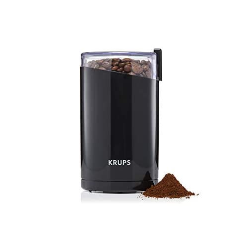 Electric Coffee Spice Grinder Oval Fast Grinding Stainless Steel Blades Black