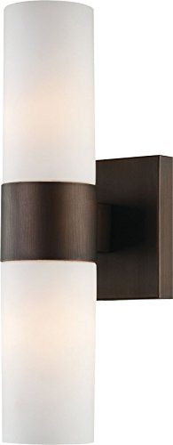 Minka Lavery Wall Sconce Lighting 6212-647 Glass Reversible 120w (13