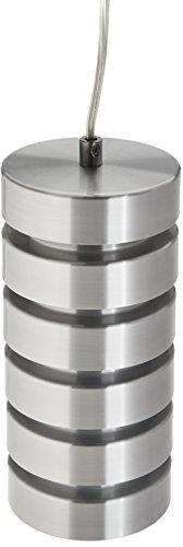 Lite Source LS-19921ALU Tendrill 1-Lite Metal Pendant Lamp, Aluminum
