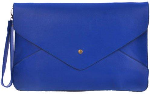 Prom Embrayage Fête Patte découpée serpent Sac Femme Plaine Enveloppe Faux Bleu rivets crocodile d'embrayage Pochettes HandbagCrave® 1xn8IXwxv