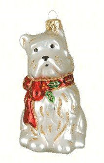 Cobane Studio LLC COBANEA239 Holly Berry Westie Ornament (Ornaments Westie)
