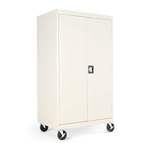 Alera CM6624PY Mobile Storage Cabinet, w/Adjustable Shelves 36w x 24d x 66h, - Duty 36w Cabinet Heavy