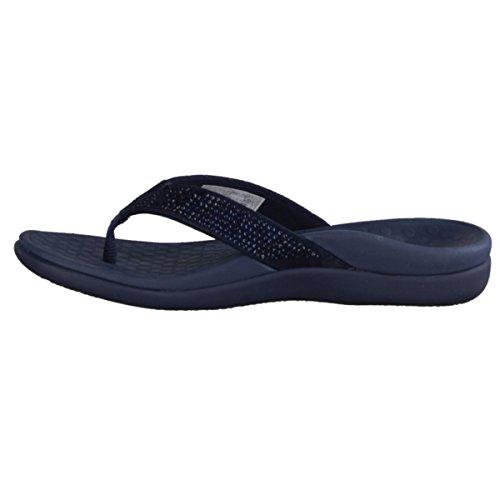 Zapato altura 15 mujer de abierto cuero Azul Vionic dedo Zapatos azul Azul sintético tacón de Islars Chanclas mm q6PnAtw