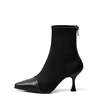 Shukun Botines Botines Mujer Primavera y otoño Martin Boots Calcetines de Mujer Botas Personalidad Puntiagudo Botas Tacones elásticos: Amazon.es: Deportes y ...