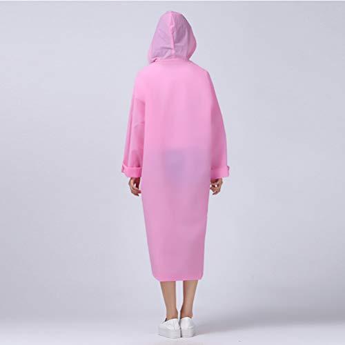 di da viaggio donna impermeabile da XL poncho impermeabile campeggio impermeabile con all'aperto impermeabile plastica semitrasparente chiar Premium cappuccio antipioggia rosa uomo addensare Polacco WRTqcnc