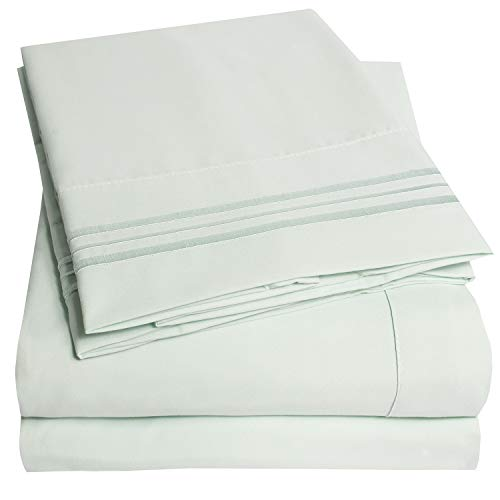 1500 Supreme Collection Extra Soft Twin XL Sheets Set, Mint - Luxury Bed Sheets Set with Deep Pocket Wrinkle Free Hypoallergenic Bedding, Over 40 Colors, Twin XL Size, Mint