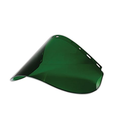 Fibre-Metal Hard Hat 4178DRKC Propionate Faceshields, 8' x 16.5' x .06', Green 8 x 16.5 x .06 Fiber-Metal