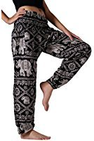 Old Man Costume Fx Face Kit (Kraft4Life Elephant Pants Woman's Yoga Comfy Pants Elephant Design (Black))