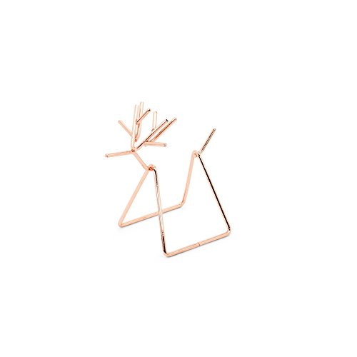 Abbott Collection Rubedo Copper Plated Wire Reindeer Napkin Holder