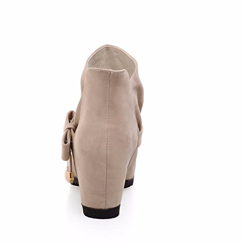 heels yards winter short large Inside high boots Beige rising boots suede fz66w
