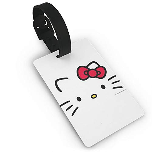 LXINGLI Fashion Hello Kitty Luggage Tags Suitcase Carry-onId Travel ID Bag Tag for Suitcase ()