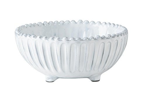White Candy Dish - Incanto Stripe Footed Bowl