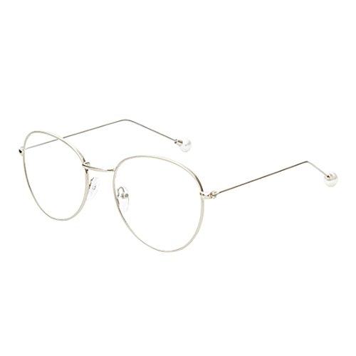 rondes résine lunettes Argent femmes Yefree métal en lentilles de et cadre mode hommes myopie en rétro Lunettes qXXxwaZz