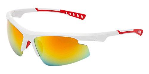 ligeras Gafas para Gafas no Gafas hombres Gafas de de Amarillo UV400 profesionales sol Marco sol polarizadas antideslumbrantes para exteriores Blanco Lente Dintang XIpaqx
