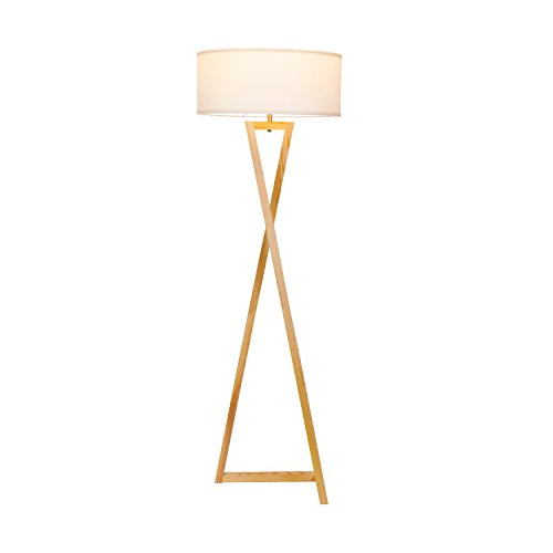 Brightech''Z'' Wood Tripod LED Floor Lamp - Mid Century Modern Light for Living Rooms & Family Rooms - Tall Standing Lighting for Contemporary Bedrooms & Offices by Brightech (Image #3)