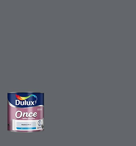 Price comparison product image Dulux Once Matt Paint for Walls, 2.5 L - Blueberry White by Dulux