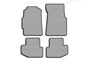 Acura Integra Carpet Floor Mats (ACURA Integra Coupe Floor Mat Carpet Custom Fit Replacements 4 pc set (2 Piece Front & 2 Piece Rear) With Serged Edging and Driver Side Heel Pad Gray Fits 1994-2001 Avery's Floor Mat 2396-B)