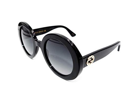 Gucci GG0319S Sunglasses 001 Black / Grey Gradient Lens 52 mm (Gucci Womens Grey Sunglasses)