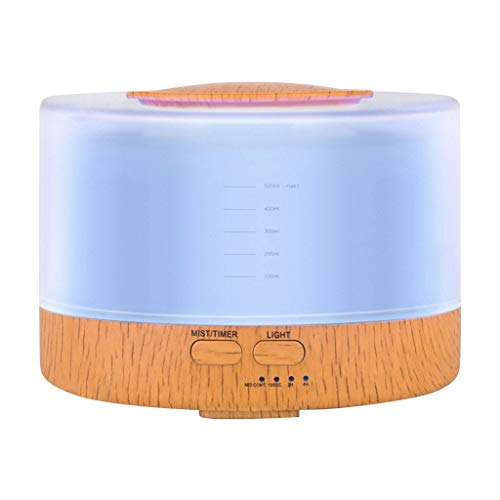 TADAMI Humidifiers for Bedroom, 500Ml Remote Control Humidifier Essential Oil Diffuser Aromatherapy (Multicolor)