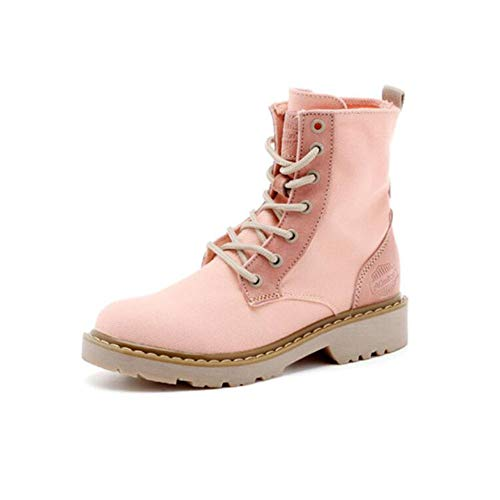 EU36 UK3 5 Wild Pink Korean Wind Color de Size Boots Moto British British Cortas Martin Botas Students Botas CN35 FH aqwU11