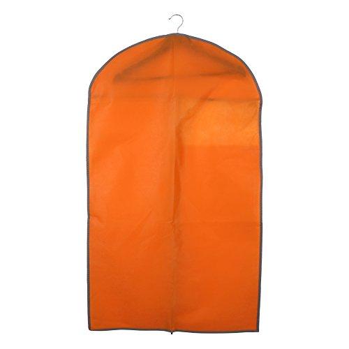 Respirant Couverture De Costume De Type Fermeture Éclair Suspendu Sacs Protecteur De Vêtements De Vêtements Sacs À Vêtements Parfaits Pour 3pcs Costumes (100 * 60 Cm Orange) 100 * 60 Cm Orange