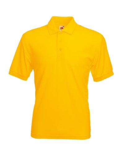 Herren Fruit of the Loom 65/35 Pique Poloshirt Tshirt-kurze Ärmel-15 Farben-KOSTENLOSE LIEFERUNG L,Sunflower