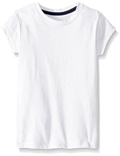 White Basic Crewneck T-Shirt - 5