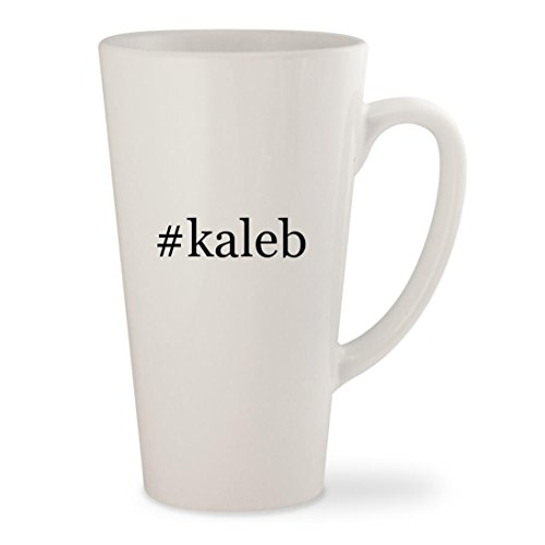 #kaleb - White Hashtag 17oz Ceramic Latte Mug - Nicole Summer Instagram