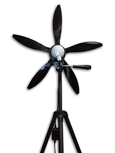"Cutting Edge Power USB Output Mini Wind Turbine, Made in USA, Portable, Camping, Beach, W Light (Tripod Mount (with Tripod), 5 Blade (18""))"