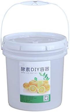 NEYOANN Cubo de plástico 10L para fermentación de vino contenedor a prueba de fugas Fermentador de cerveza con grifo y tapa Airlock