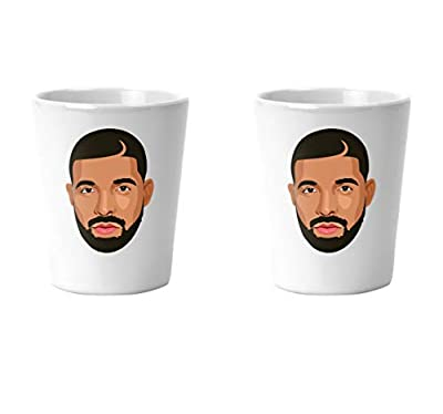 Drake Feelings Drizzy Champagne Papi Woes Shot Glass Set Gifts For Drake Lover 1.5 Ounces 2 Pack