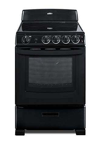 Summit REX2431B 24 Inch Wide 2.9 Cu. Ft. Free Standing Electric Range with Safety Burners