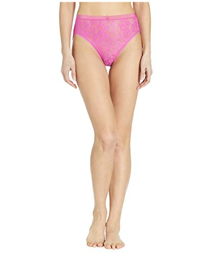 Wacoal Women's Plus Size Awareness Hi Cut Brief Panty, Rose Violet XL