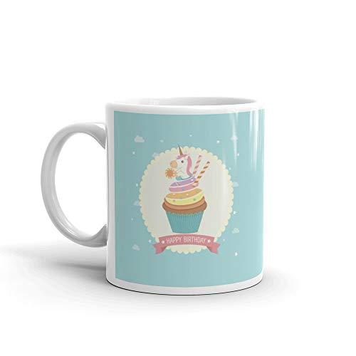 Cupcake Unicorn Birthday Mug 11 Oz Ceramic