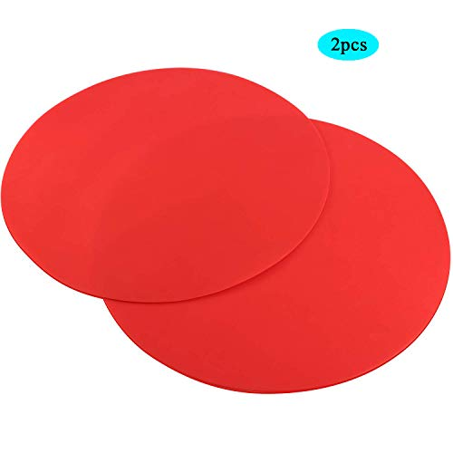 Time Roaming Silicone Microwave Mat Non Stick Oven Diameter 11.7 Inch 2 Pack ()